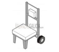 Mesa Estructura Móvll con ruedas neumáticas para báscula - Modelo TROLLY