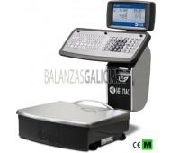 Balanza GP1AP capacidad 12/30 kg, división 2/5 g, con plato 375x315mm y cuerpo de acero inoxidable, pantalla doble LCD retroiluminada sobre columna, teclado impermeable con 80 teclas e impresora / etiquetadora térmica.