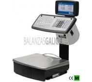 Balanza GP1MS capacidad 12/30kg, división 2/5g, cuerpo y plato 375x315mm de acero inoxidable, pantalla doble LCD retroiluminada sobre columna, teclado con 80 teclas e impresora térmica con rebobinado.