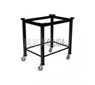 Mesa Elevada con Ruedas Giratorias para WORKET - 80x60 cm
