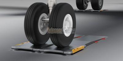 Sistema de pesaje por ejes carbon|AERO 30t para aviones de hasta 30000 kg por rueda-tren