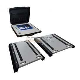 Báscula Móvil para pesaje de coches, furgonetas y pequeños vehículos BG-MOVILCAR - Conjunto 2 plataformas + Visor