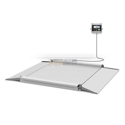Báscula de suelo con rampas y Visor en acero Inox - Serie BG-INOX-MARINE-CD Acero INOX 316L