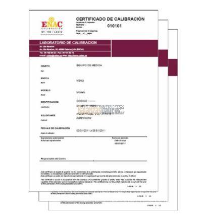 Certificado de Calibración ENAC / IPAC - Balanzas y Básculas / BX-GR