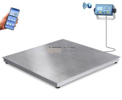 Plataforma Inox ET-SHIPPER con visor. Alcance dese 300Kg hasta 1500Kg