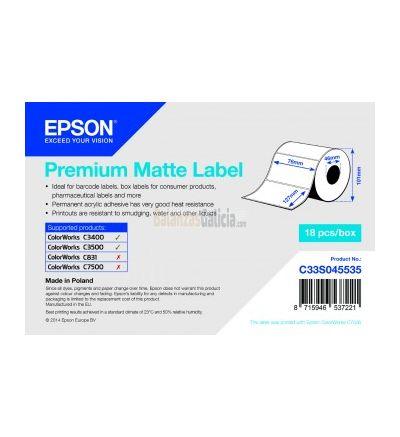 Etiquetas PAPEL adhesivas para impresora EPSON TM-C3500