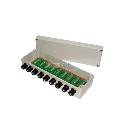 Caja suma plástico ABS hermética para 4 células