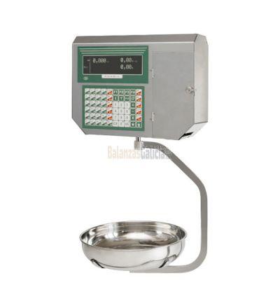 Balanza Registradora con Impresora y Etiquetadora - Serie CIES-DG-ETQ-TIQ - INOX