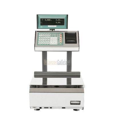 Balanza con impresora INOX, diseñada para carnicerías, pescaderías, y frutaterías . Opciones: 6kg, 15Kg, 30kg