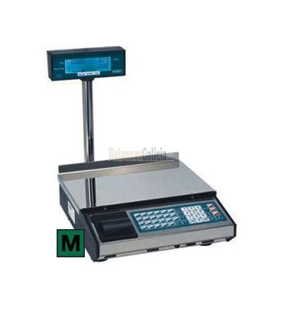 Balanza INOX con Impresora de Papel Adhesivo - Serie CIES-CP-TORRE