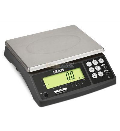 Balanza Industrial Serie RZ. Capacidad de 6 a 30 Kg y Entrada directa de datos USB a PC sin necesidad de software (opcional).