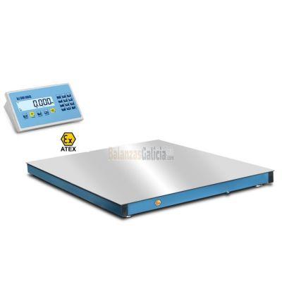 Báscula plataforma válida para certificar los pesos de mercancías de acuerdo normativa SOLAS.