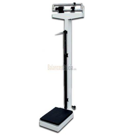 Báscula pesa personas mecánica con columna BG-200. Alcance 200Kg, precisión 100gr