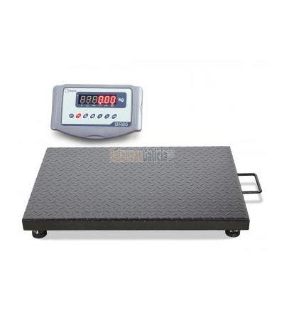 Báscula plataforma industrial de suelo pesa palets y paqueteria con visor - 600Kg - Lancer-80