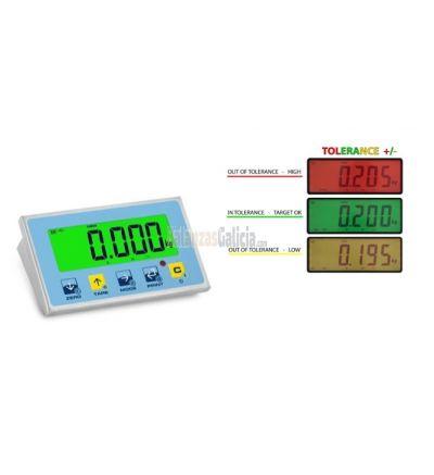Visor de peso BG-ALK en acero inoxidable IP68 (CE-M) con semáforo.
