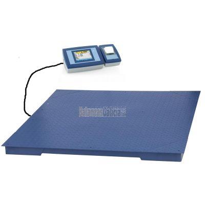 Sistema de pesaje con trazabilidad alimentaria BG-AX-TIKER con impresora de recibos y plataforma de suelo