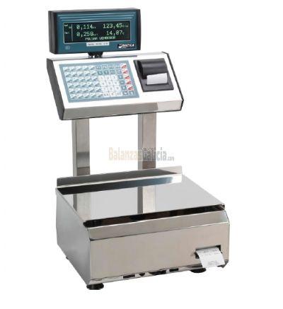 Balanza Registradora - Serie BG-SELLER - Acero INOX con Impresora de Tickets y Etiquetadora