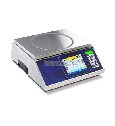 Balanza digital CONTROL DE PESO en acero inoxidable BG-KIEX con pantalla táctil y SEMAFORO integrado