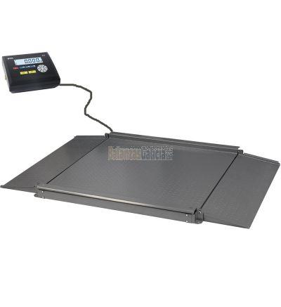Plataforma de pesaje con rampas Visor INOX e impresora de recibos - Serie BG-LEVER-PRINTER
