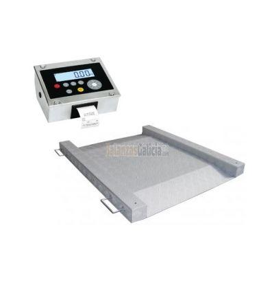 Báscula de suelo plataforma con rampas e impresora de tiques - Serie BG-Thunder-Printer