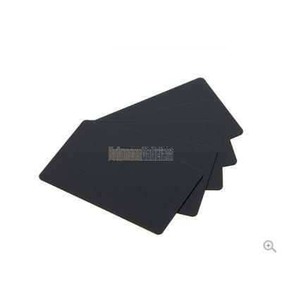Caja de Tarjetas Negras Mate PVC-U (100 uds.) Válidas normativa uso alimentario - Medidas: 54 X 85 mm
