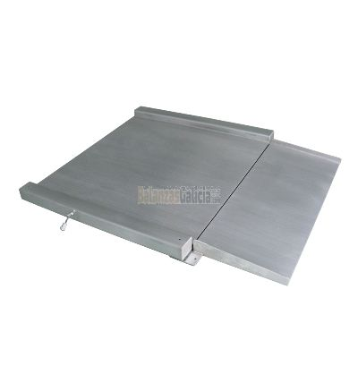 Báscula de suelo con rampa - Serie BG-BVRS - Acero INox