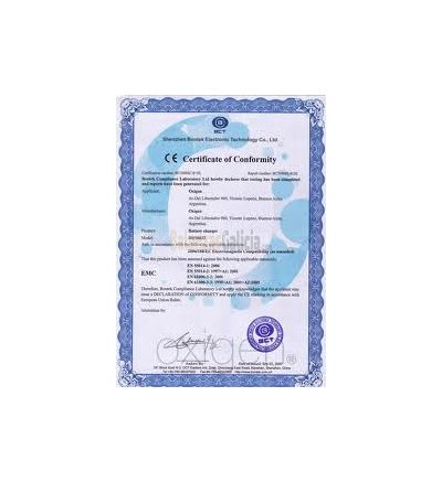 Certificado Trazabilidad ENAC pesas de 100 a 2000 Kgs - Clase M2