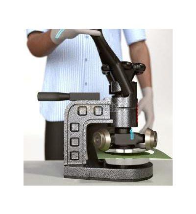 Cortador semi-automático de muestras de tejidos.