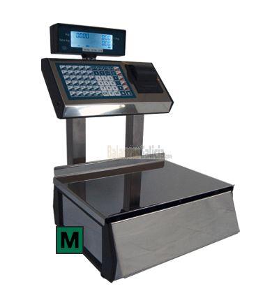DG - Balanza de mostrador dos cuerpos. Impresora. 2000PLUs, 15kg / 5g, 2g y 1g, plato 396x276 mm