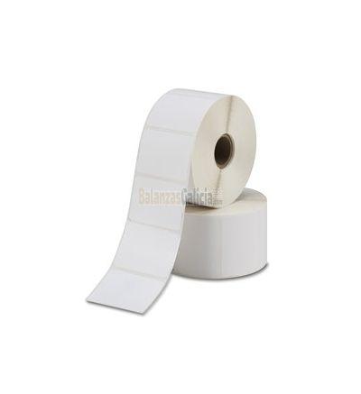 Etiquetas térmicas adhesivas para balanzas. Medida 56 x 50 (Caja 4 rollos  540 eti/rollo)