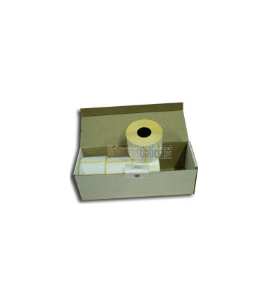 Caja de 50 Rollos papel térmico adhesivo continuo (etiqueta) 62x85X40 para balanzas comerciales