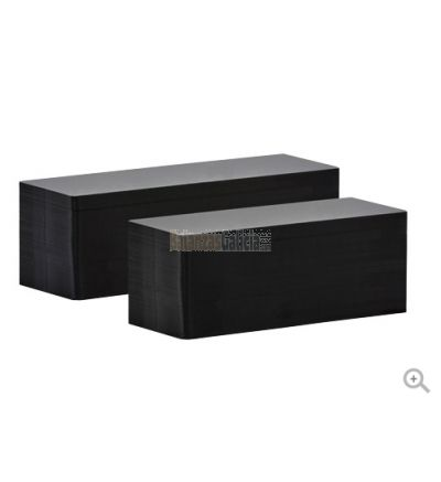 Tarjeta Negra Alargada PVC 50x150 mm (500 uds) Edikio Flex
