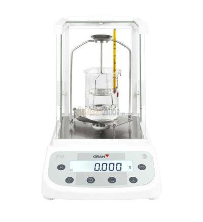 Balanza de Laboratorio - Serie Gram FD Cálculo de la densidad de líquidos y sólidos