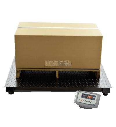 Plataforma báscula industrial de suelo pesa palets y paqueteria con visor - Serie BG-Inverter