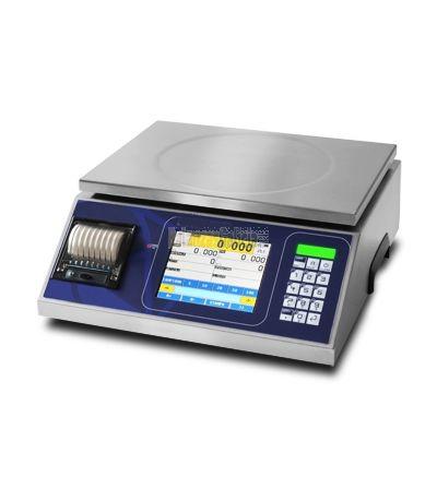 Balanza digital en acero inoxidable BG-KIEX con pantalla táctil para etiquetado PESO-PRECIO-IMPORTE - Impresora de recibos y etiquetas (opcionales)