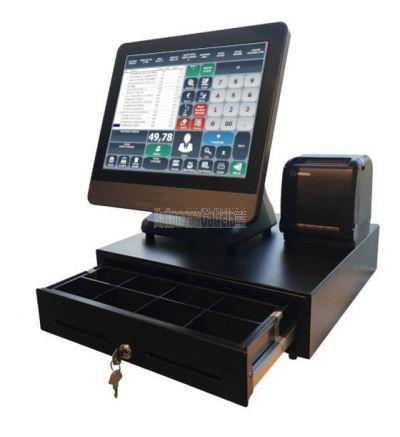 Firesoft - Pack TPV táctil LUNARPOS completo con Software TPV para la gestión de ventas Multicaja, balanzas, multitarifa, Trazabilidad..
