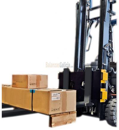 Plancha de pesaje para carretilla elevadora con guías de fijación según normas DIN15173 - FEM clase II, para transformar una normal carretilla en un sistema de pesaje electrónico móvil. Disponible también en versión HOMOLOGADAS CE-M.