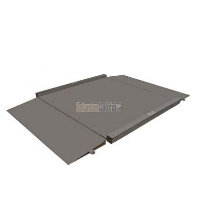 Báscula de suelo con rampa - Serie BG-PLATINOX - Acero inoxidable