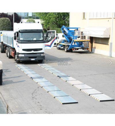 Básculas plataformas pesa ruedas / pesa ejes portátiles - Serie BG-WW-PROF