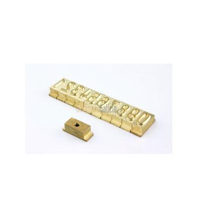 Símbolo troquel para codificador fechas LOTEDAT-6232 / 6132 ( numeros - letras - espacios )