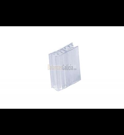 Soporte pinza tarjeta portaprecios forma H - Set 25 unidades