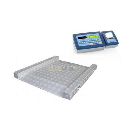 Báscula de suelo plataforma con rampas e impresora de tiques - Serie BG-Thunder-Printer-Plus