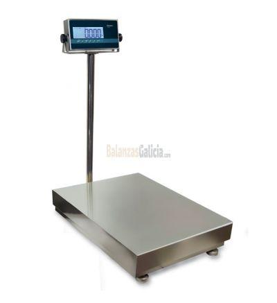 Plataforma de 4 células INOX con rampa e indicador - Serie RGI - Válida para metrología legal