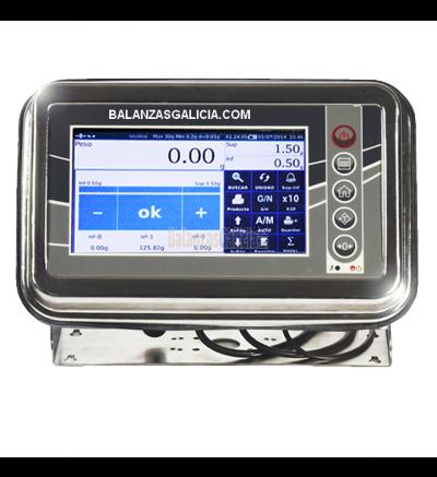 Indicador Táctil Metrologico BG-TR17 - SALIDA USB Y RS232 (CE-M) IP65