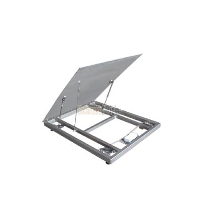 Báscula Plataforma Acero Inoxidable AISI-304 con tapa Basculante Hidráulica - Serie WPL