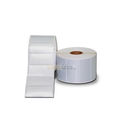 Rollos de Etiquetas Adhesivas  color Plata de Poliester para Impresoras Transferencia Térmica GODEX